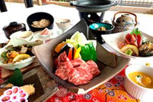 鹿児島牛の陶板焼き